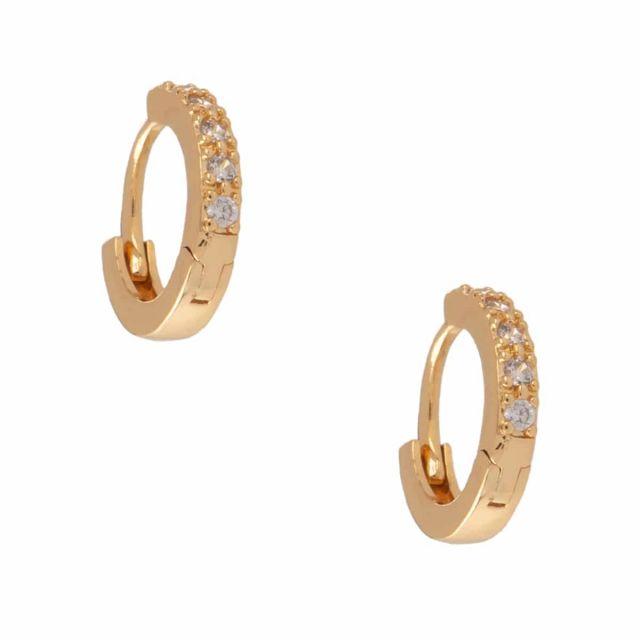 Meriel ear small gold Clear