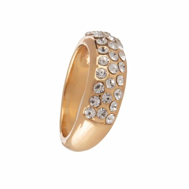 Meriel ring stone 18 gold Clear