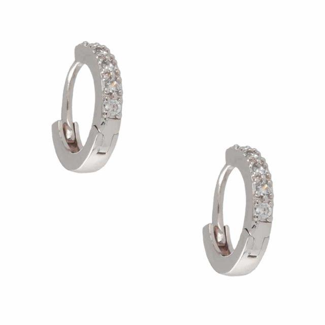 Meriel ear small silver Clear