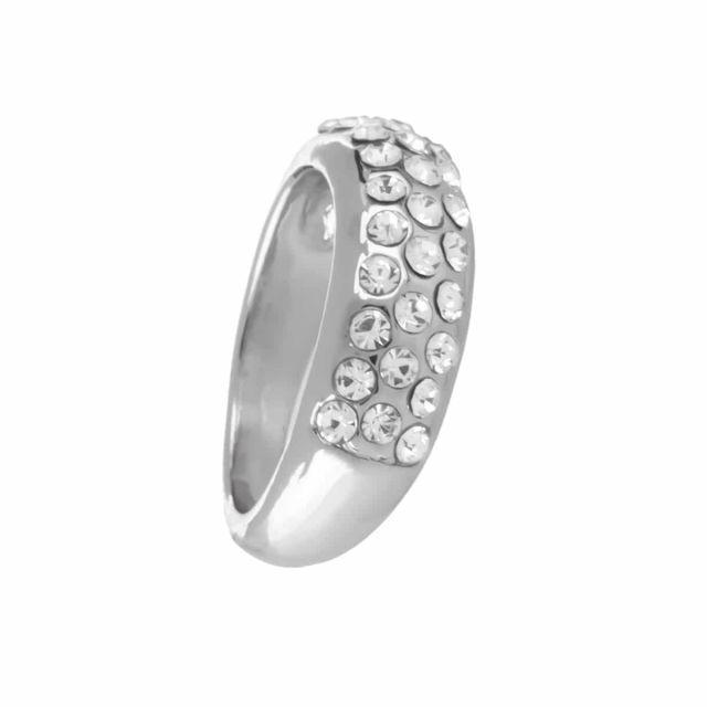 Meriel ring stone 18 silver Clear