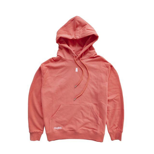 Hugme hoodie Coral L