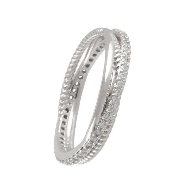 Laurel ring 18 silver