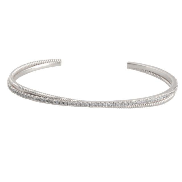 Laurel brace silver
