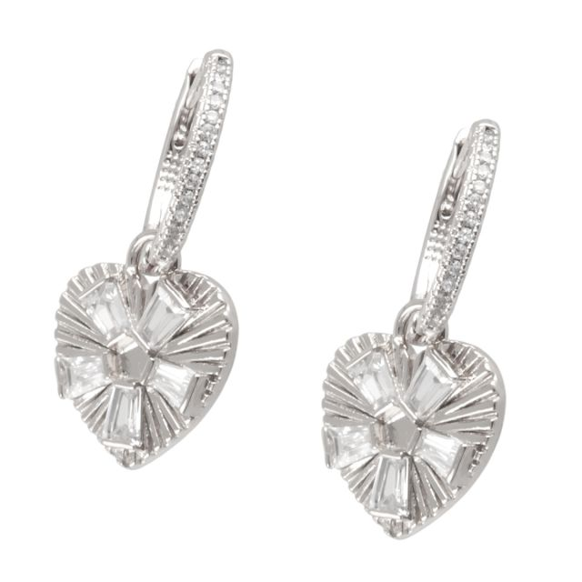 Dehlia round ear silver Clear