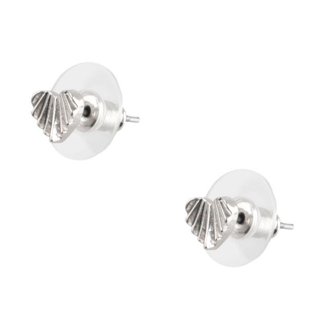 Dehlia stud ear Silver