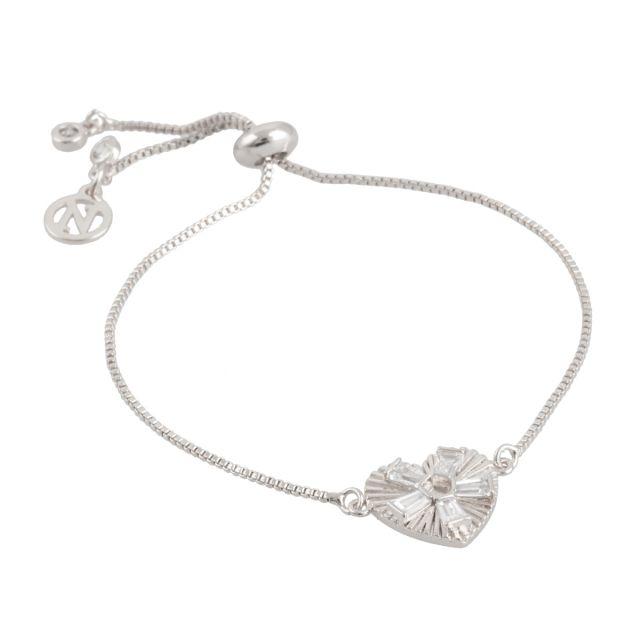 Dehlia brace silver Clear