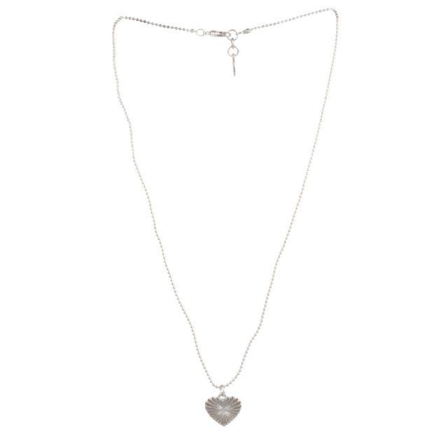 Dehlia neck 42 plain Silver