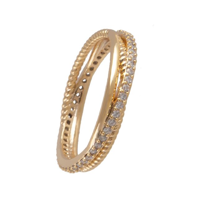 Laurel ring 18 gold