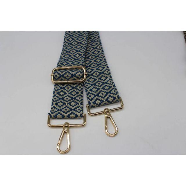 Bag strap diamond Turquoise