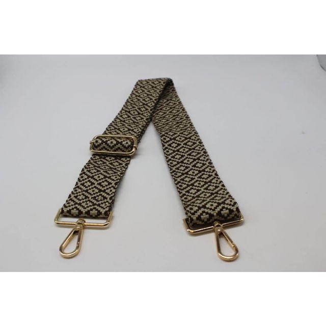 Bag strap diamond Darkbrown