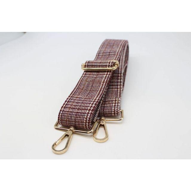 Bag strap tweed Wine