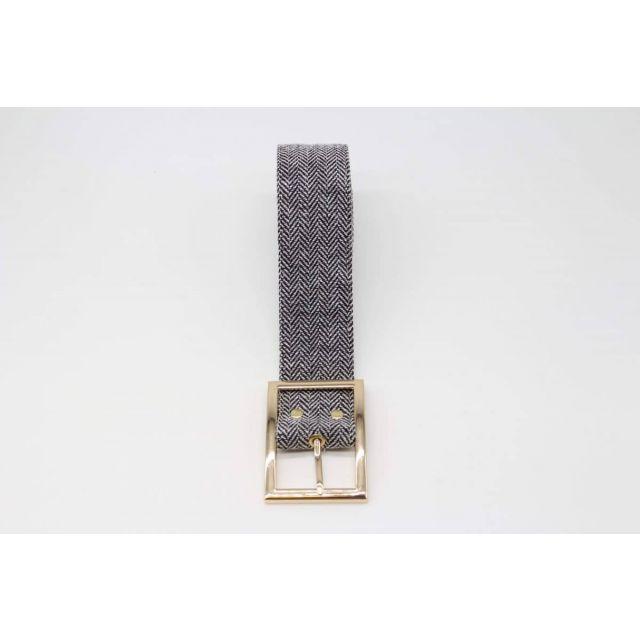 Belt fishbone Black