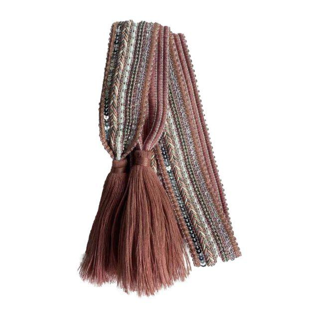 Belt knit tassle Rose
