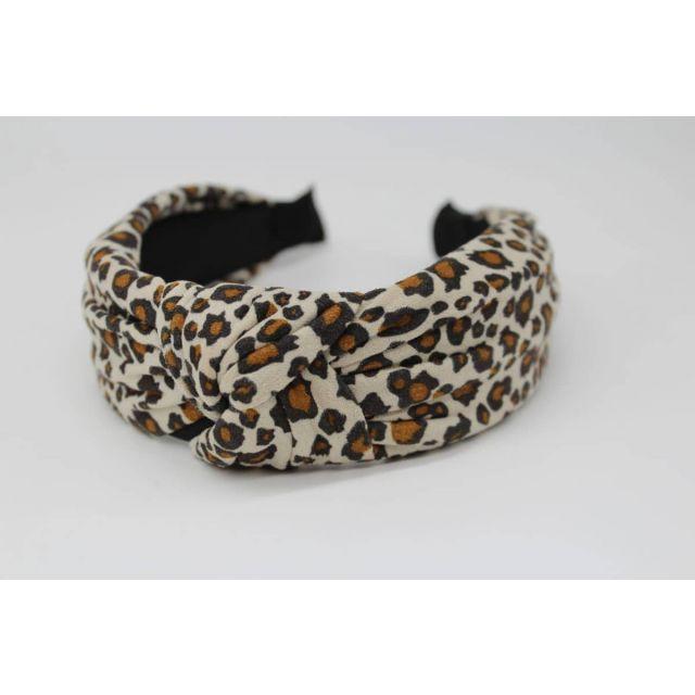 Hair band leopard Beige