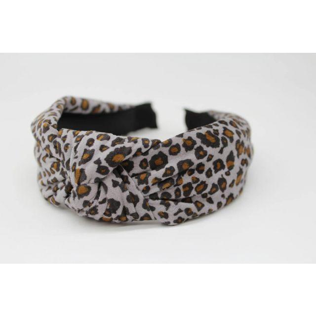 Hair band leopard Lightblue