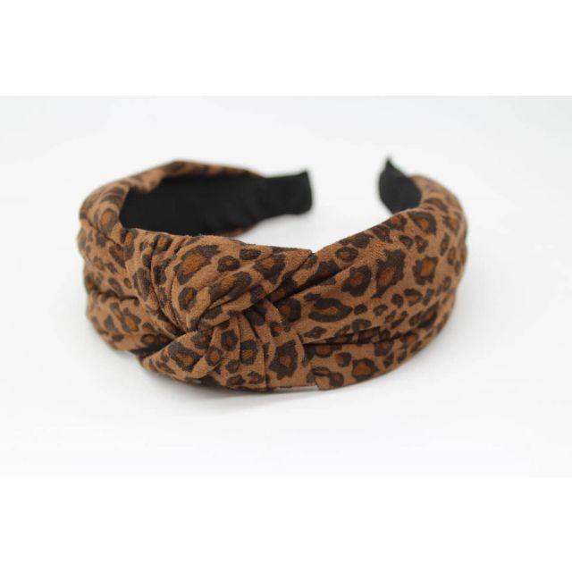 Hair band leopard Darkbrown