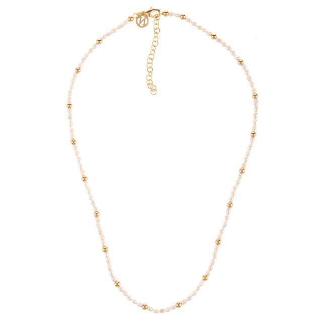 Boston neck 45 pearl White