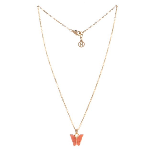 Butterfly neck 42 gold Coral