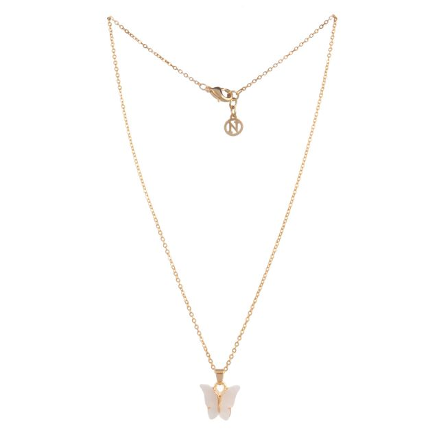 Butterfly neck 42 gold White