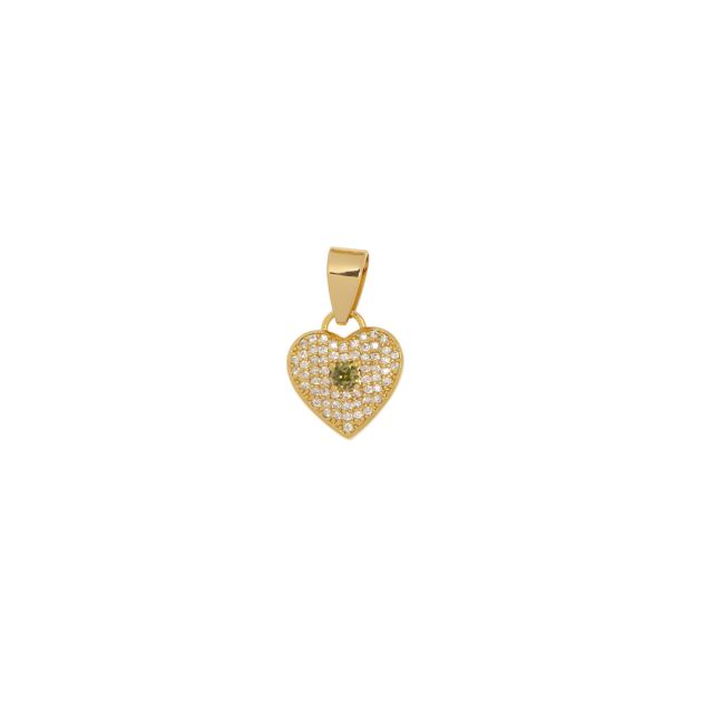 Charm heart Olive