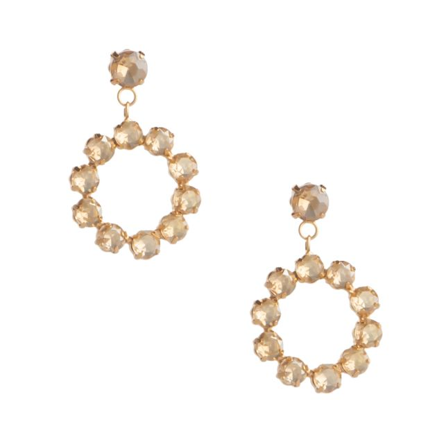 Edit round ear gold Champagne