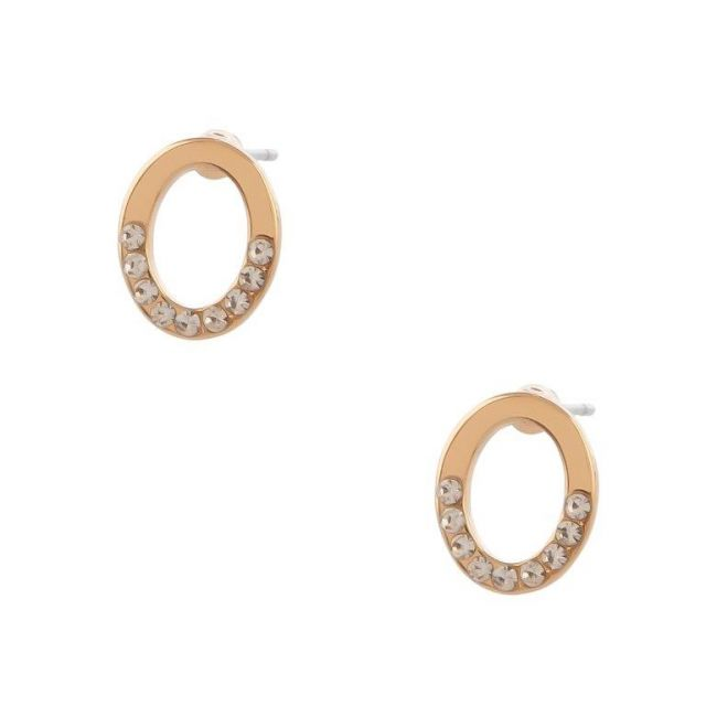 Haven stud ear gold Clear