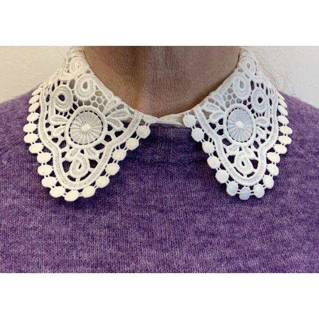Collar lace medium White