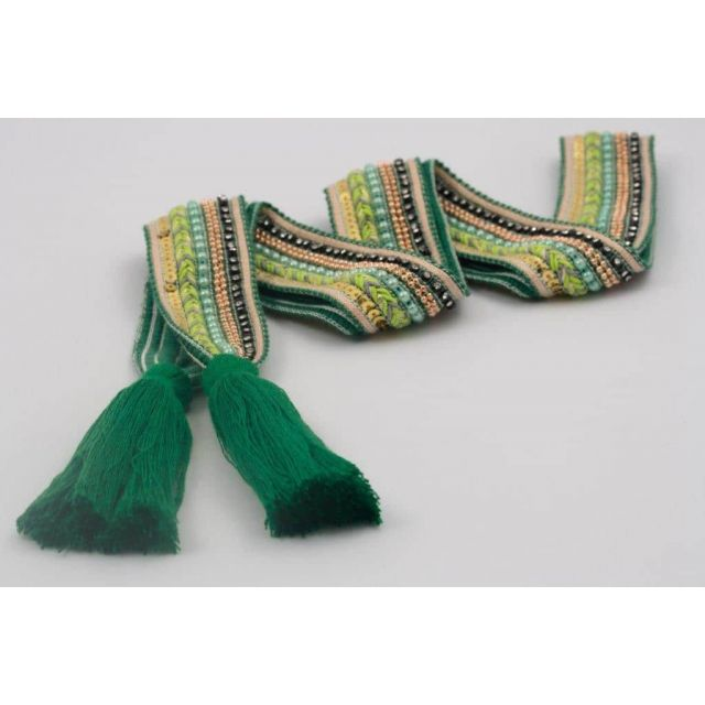 Belt knit tassle Lightgreen