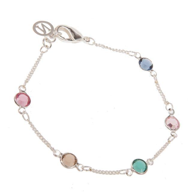 Jewel brace chain Silver