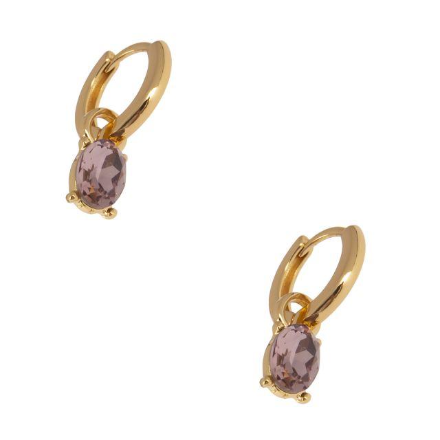 Jordan drop ear gold Lilac