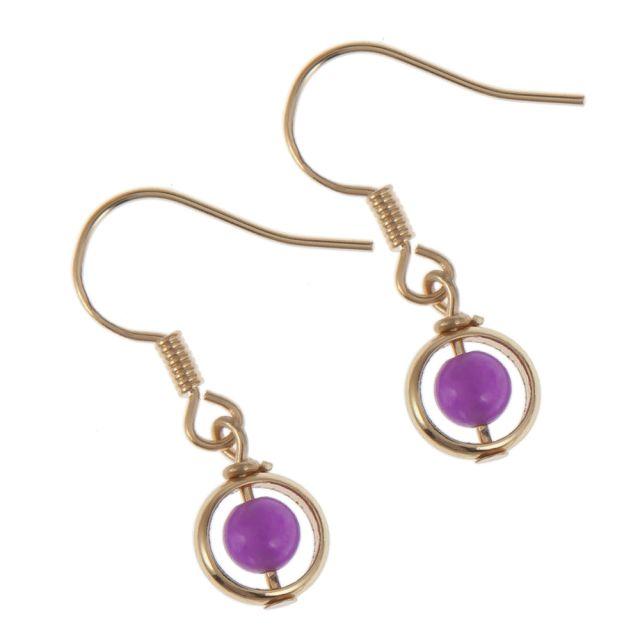 Lindsay ear gold Purple