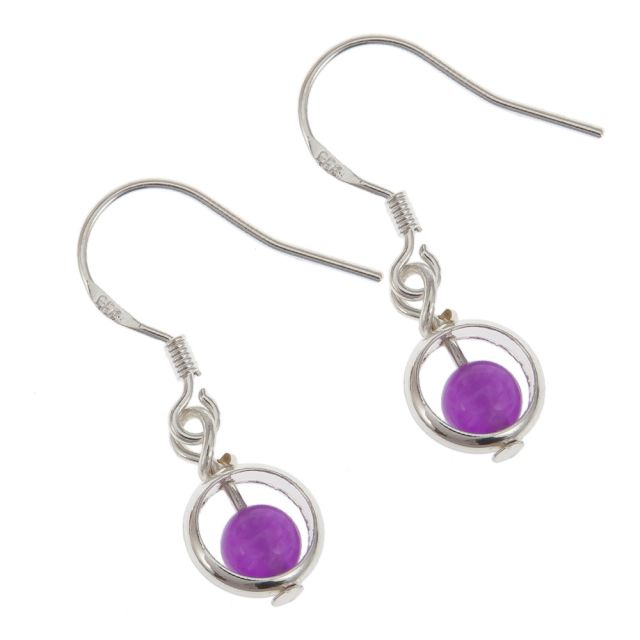 Lindsay ear silver Purple