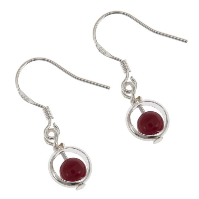 Lindsay ear silver Red