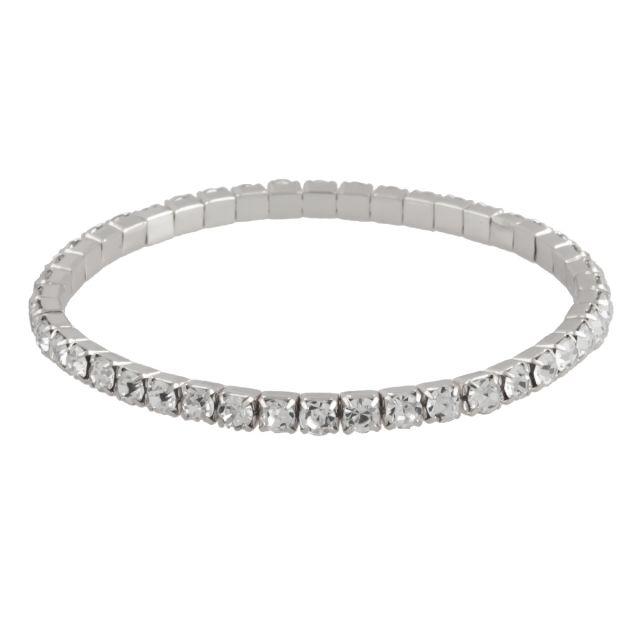 Line el. brace silver Clear