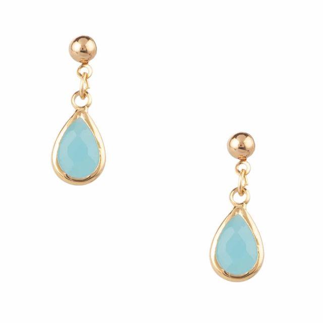 Miuki ear gold Turquoise