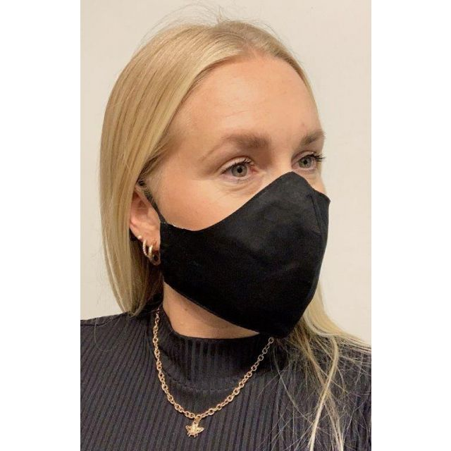 3-layer washable facemask Black