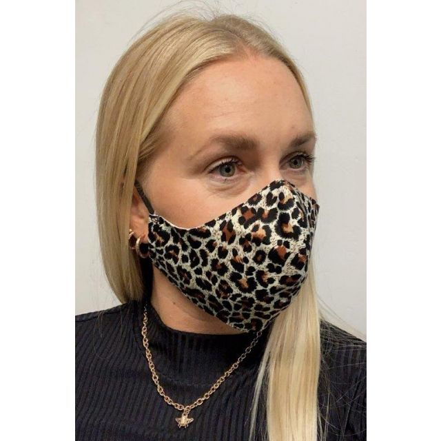 3-layer washable facemask Leopard
