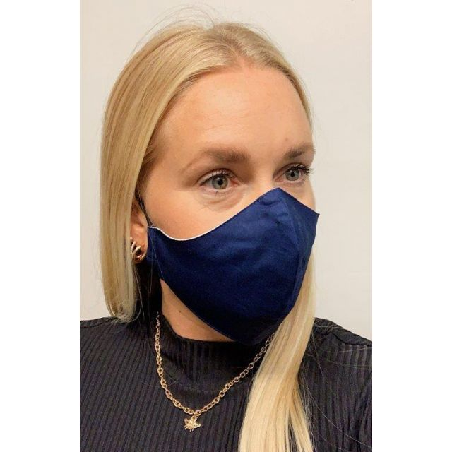 3-layer washable facemask Navy
