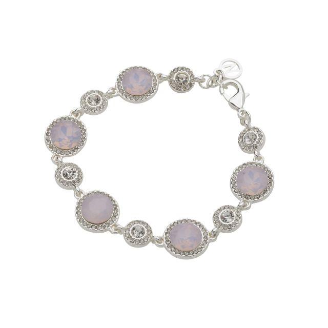 Opal brace silver Matt pink