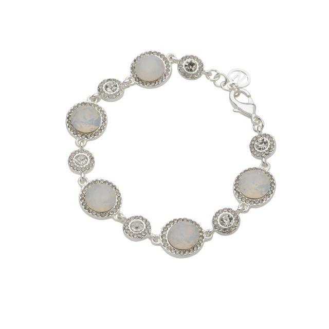 Opal brace silver Matt white