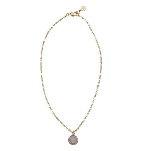 Opal neck 42 gold Matt pink