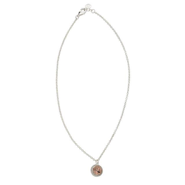 Opal neck 42 silver Peach
