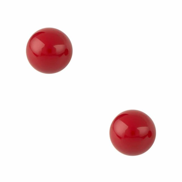 Pearl ear 10 mm Red