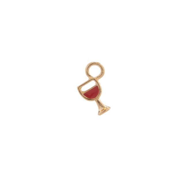 Pendant ear wine Red