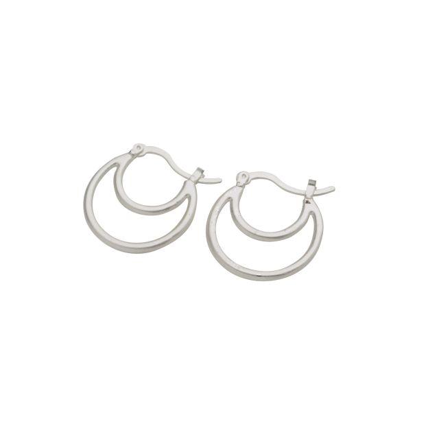 Prato double ear matt Silver