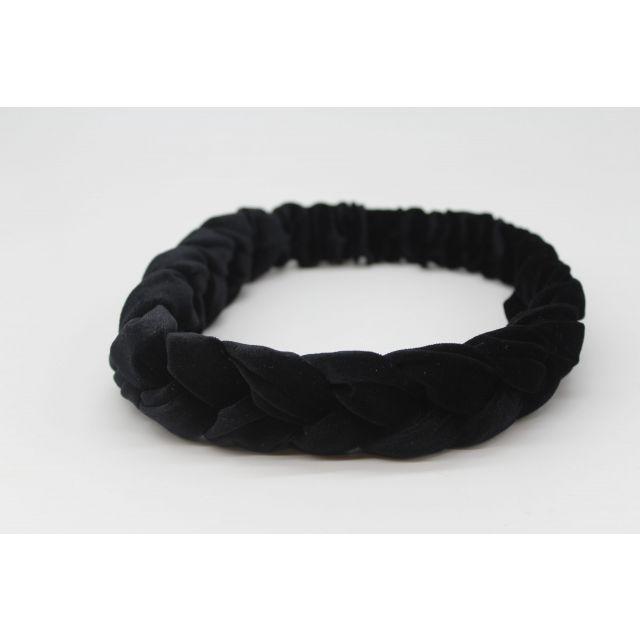 Hair ribbon velvet Black
