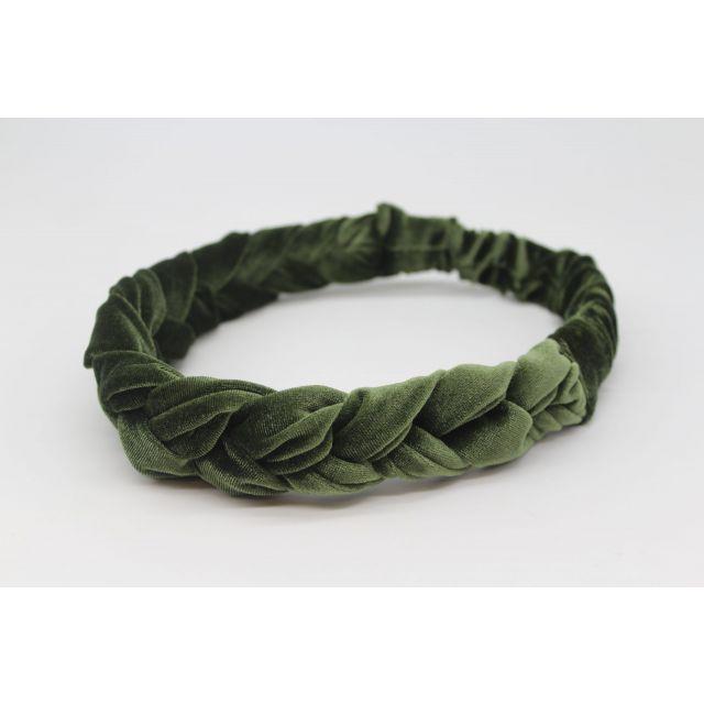 Hair ribbon velvet Darkgreen