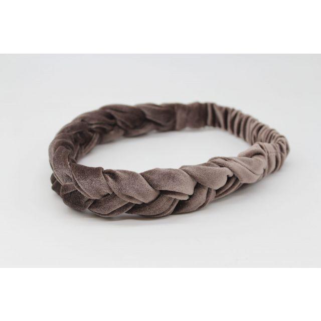 Hair ribbon velvet Lightbrown