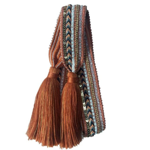 Belt knit tassle Rust