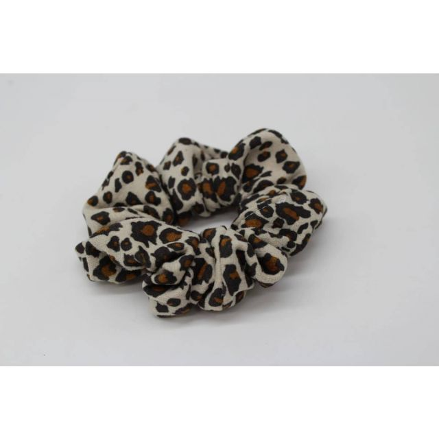 Hair scrunch leopard Beige